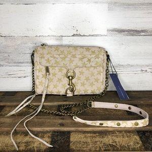 Rebecca Minkoff Leather glitter star chain purse